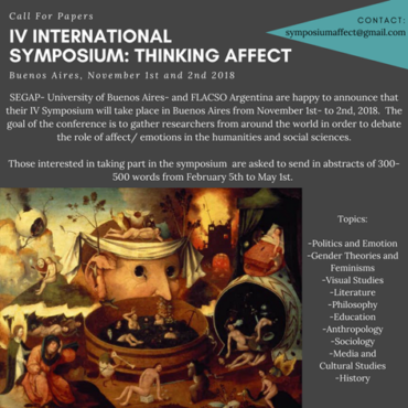IV International Symposium Thinking Affect